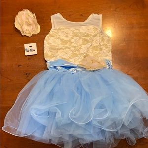 Pageant Dress with Earrings and Bow